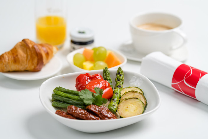 Gourmet Menu - Cold Vegetarian Breakfast served aboard Czech Airlines flights