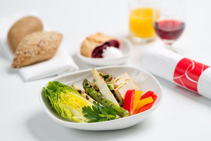 Gourmet Menu - Cold Vegetarian Menu served aboard Czech Airlines flights