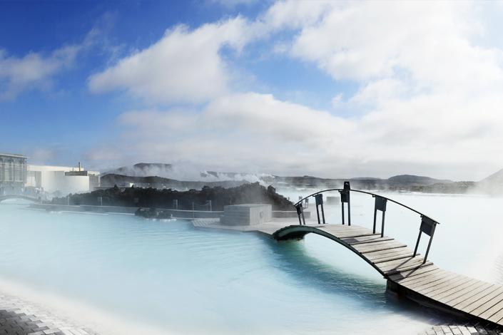Reykjavik - le bain géothermique du lagon bleu