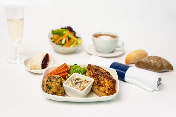Gourmet Menu - Hot Chicken Menu served aboard Czech Airlines flights