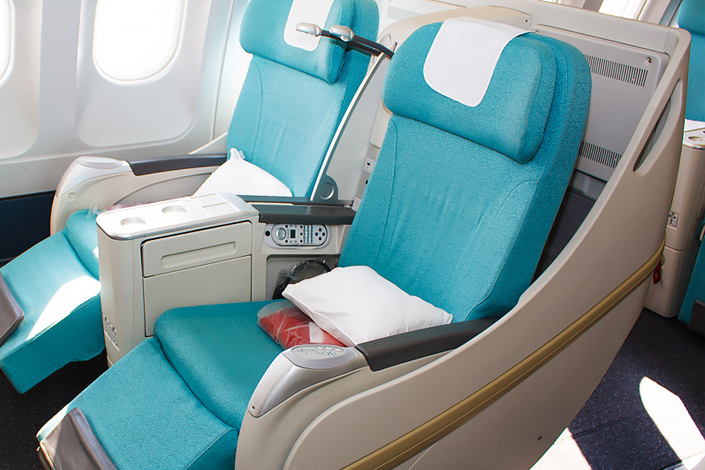 Czech Airlines aircraft interior - Business Class seats