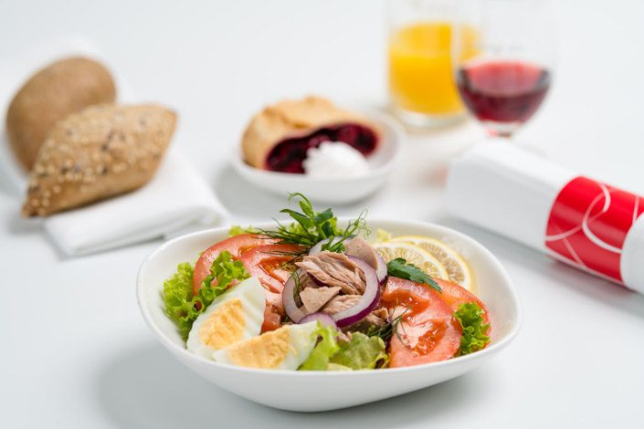 Gourmet Menu - Cold Tuna Menu served aboard Czech Airlines flights